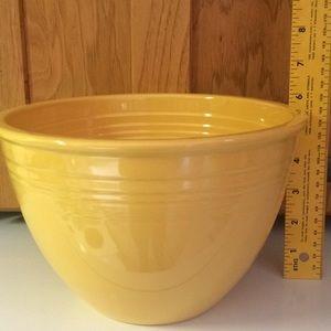 Fiesta Yellow Bowl.  Fiesta written in cursive